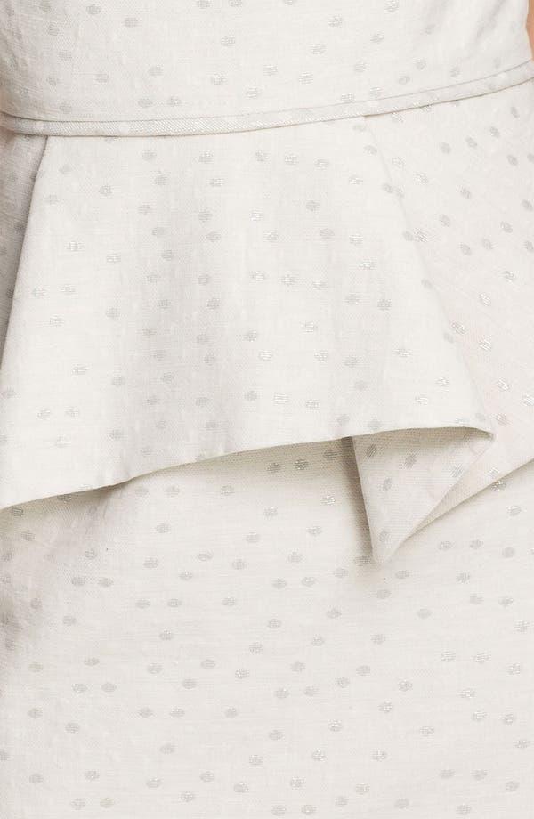 Alternate Image 3  - Donna Ricco Metallic Polka Dot Peplum Dress