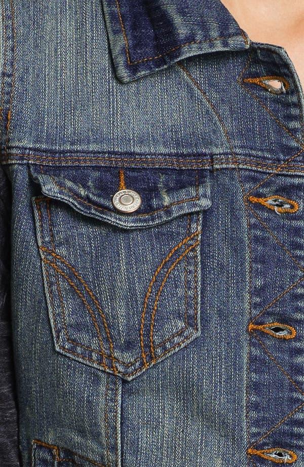 Alternate Image 3  - Thread & Supply Vintage Wash Denim Vest (Juniors)