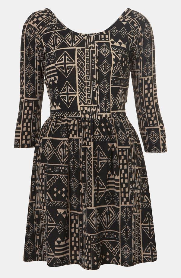 Alternate Image 1 Selected - Topshop Aztec Print Surplice Back Cutout Dress