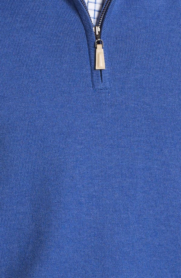 Alternate Image 3  - Peter Millar Quarter Zip Cotton & Cashmere Sweater Vest