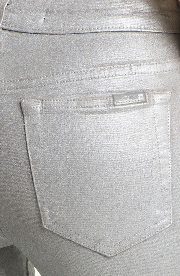 Alternate Image 3  - Joe's Coated Skinny Stretch Jeans (Silver Rock)