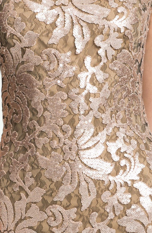 Alternate Image 3  - Tadashi Shoji Sequin Lace Off Shoulder Gown