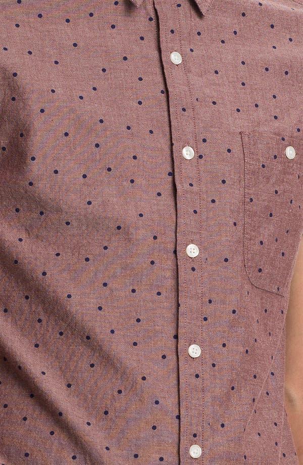 Alternate Image 3  - Topman Polka Dot Woven Shirt