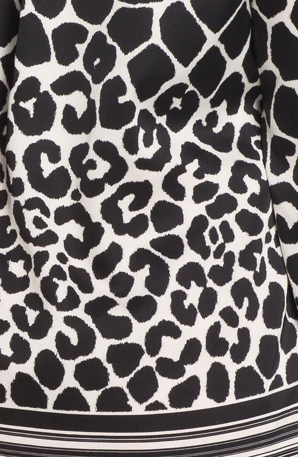 Alternate Image 3  - Vince Camuto Border Stripe Animal Print Blouse (Plus)