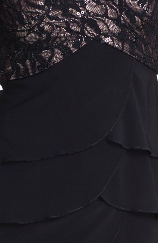 Alternate Image 3  - Patra Embellished Lace Tiered Jersey Dress