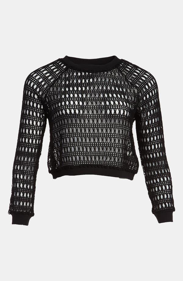 Alternate Image 1 Selected - Viva Vena! Lace Crop Sweatshirt