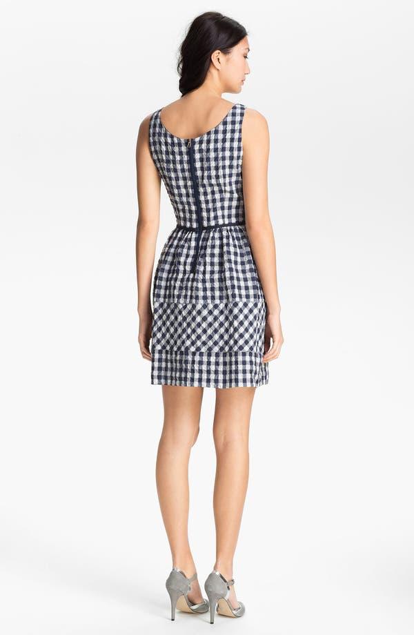 Alternate Image 2  - Taylor Dresses Gingham Fit & Flare Dress
