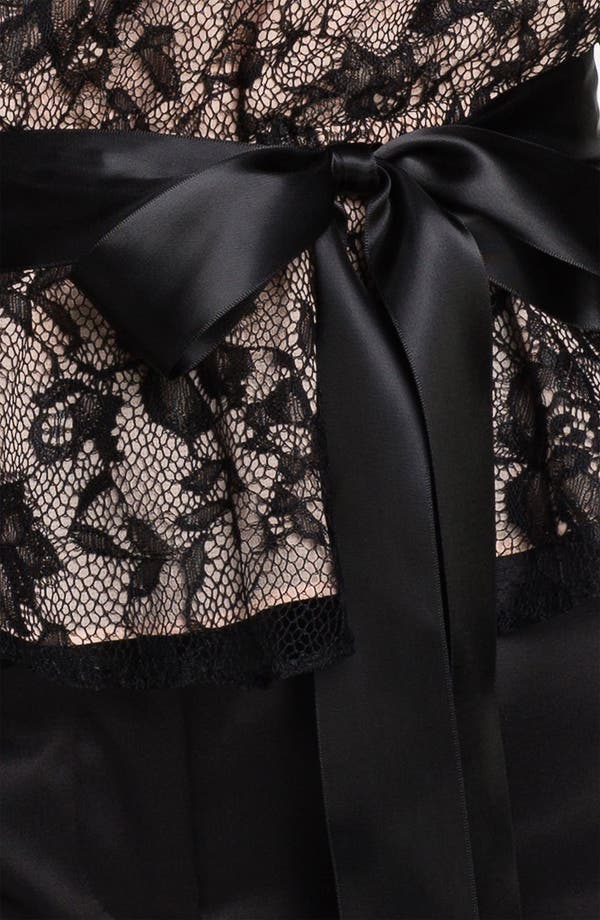 Alternate Image 3  - Adrianna Papell Bishop Sleeve Lace Blouse (Petite)