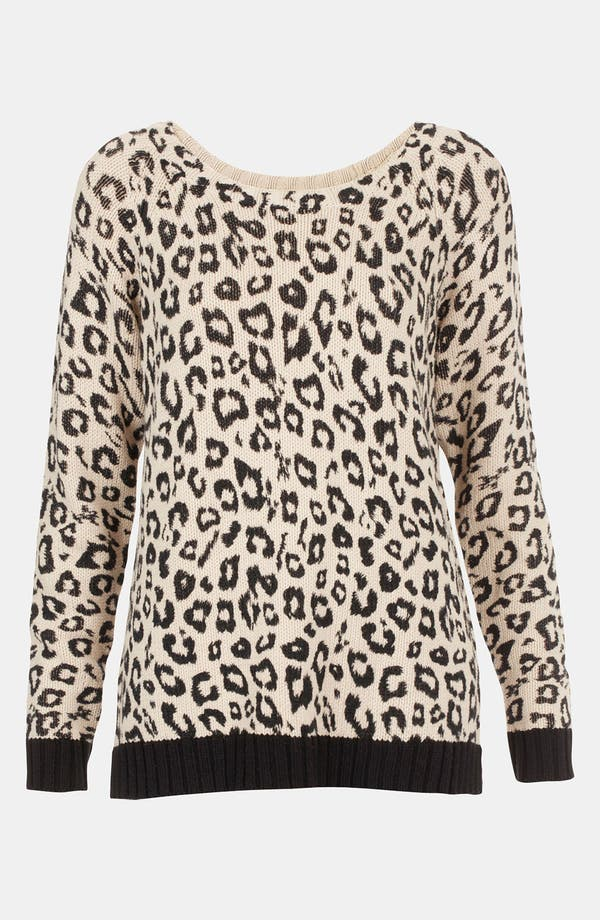 Alternate Image 1 Selected - Topshop Leopard Print Sweater