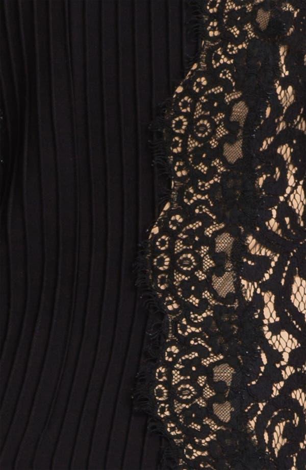 Alternate Image 3  - Tadashi Shoji Lace Paneled Drop Waist Dress