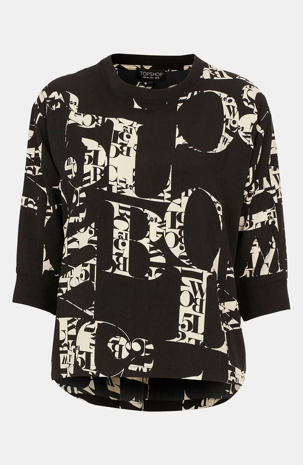 Alternate Image 1 Selected - Topshop 'ABC' Print Top