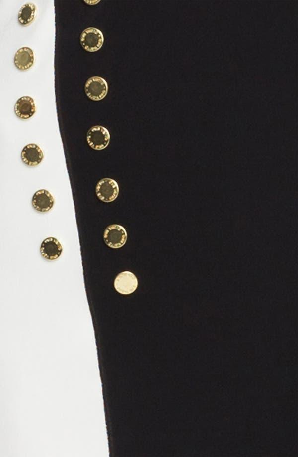 Alternate Image 3  - Eva Varro Studded Colorblock V-Neck Tunic
