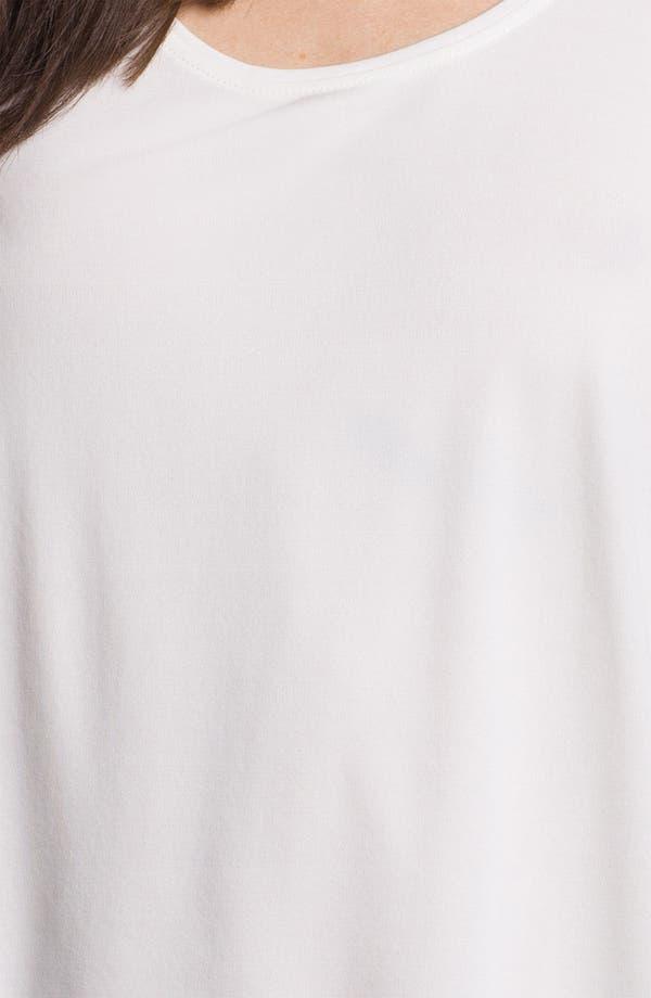 Scoop Neck Silk Tank,                             Alternate thumbnail 3, color,                             Soft White