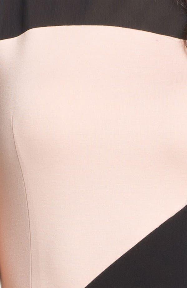 Alternate Image 3  - ERIN erin fetherston Mesh Yoke Colorblock Sheath Dress