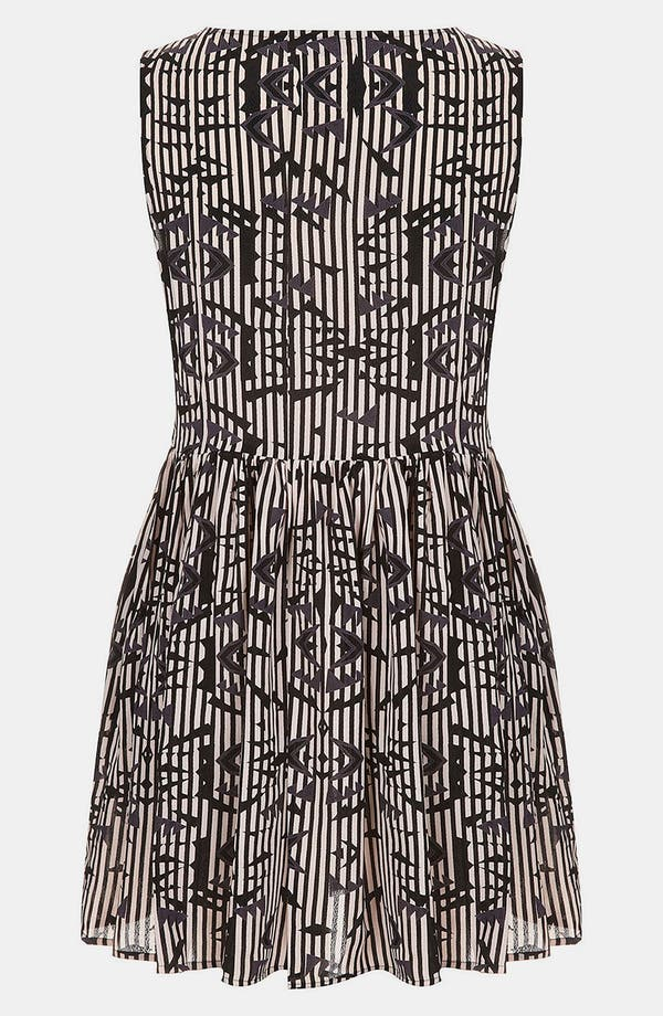 Alternate Image 2  - Topshop 'Arrow Ikat' Print Skater Dress (Petite)