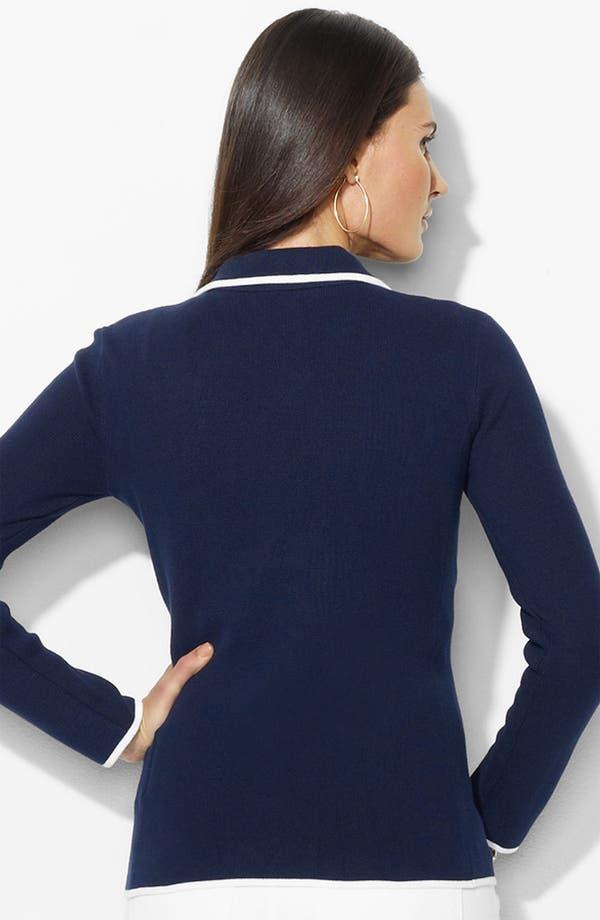 Alternate Image 2  - Lauren Ralph Lauren Crest Pocket Blazer (Petite) (Online Exclusive)