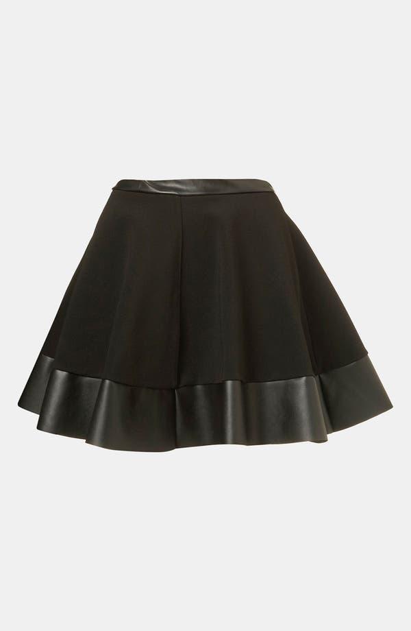 Skater Skirt,                         Main,                         color, Black