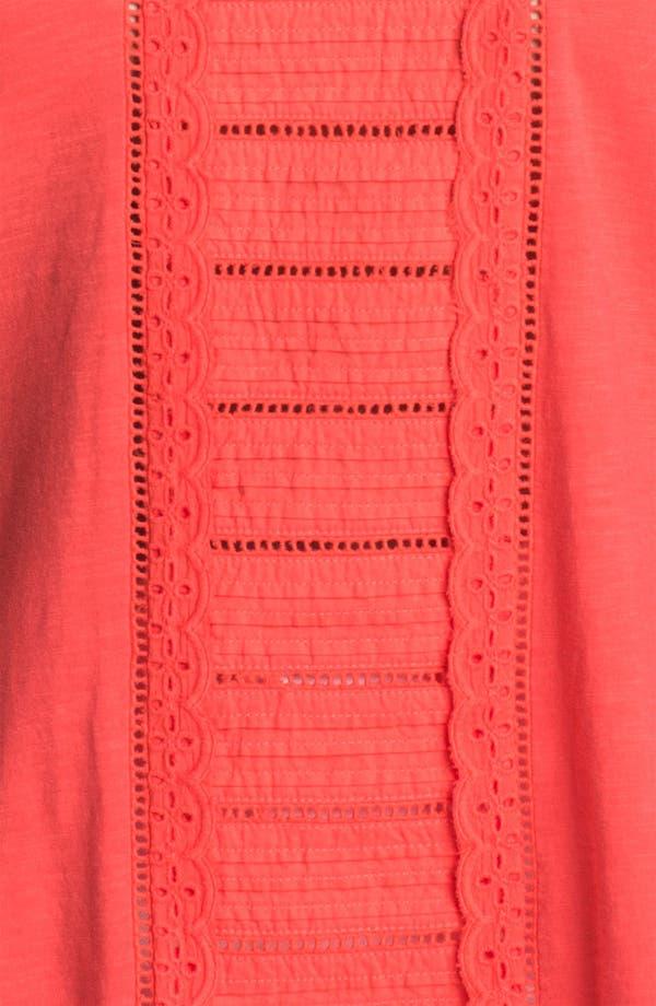 Alternate Image 3  - Lucky Brand 'Alice' Cutout Cotton Top (Plus Size)