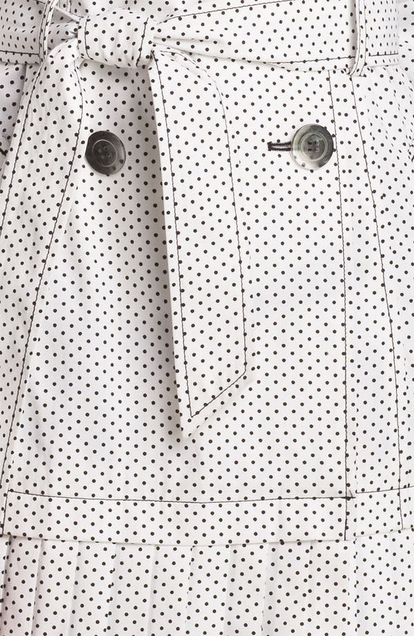Alternate Image 3  - Ivanka Trump Polka Dot Pleat Hem Trench Coat (Online Only)