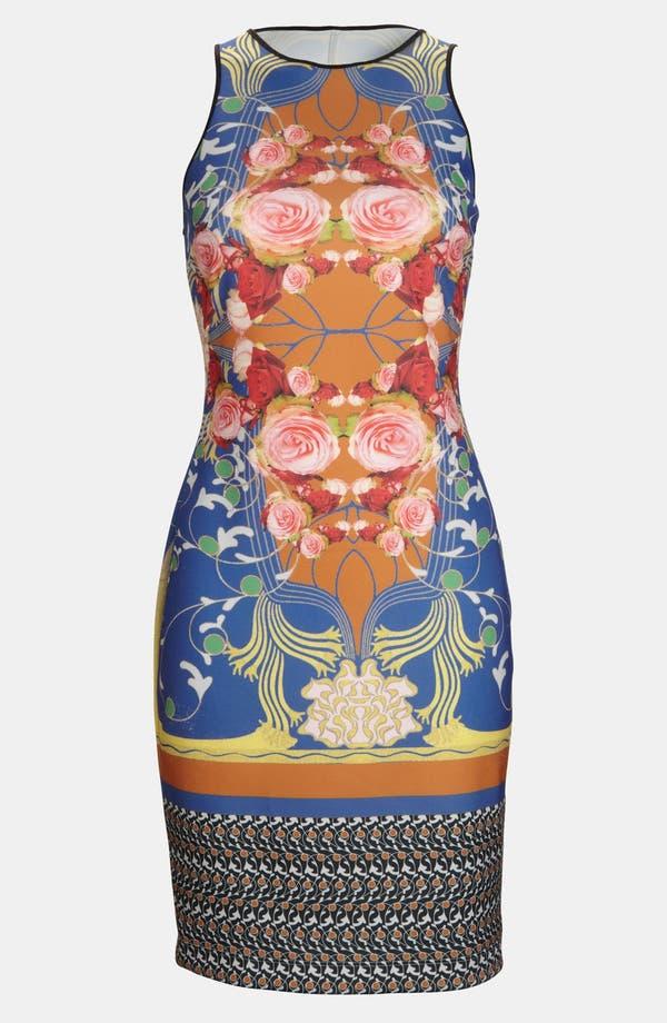 'Nouveau Scarf' Dress,                         Main,                         color, Blue