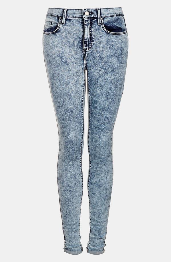 Alternate Image 3  - Topshop Moto 'Leigh' Acid Wash Skinny Jeans