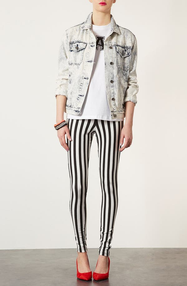 Alternate Image 2  - Topshop Mod Stripe Denim Leggings