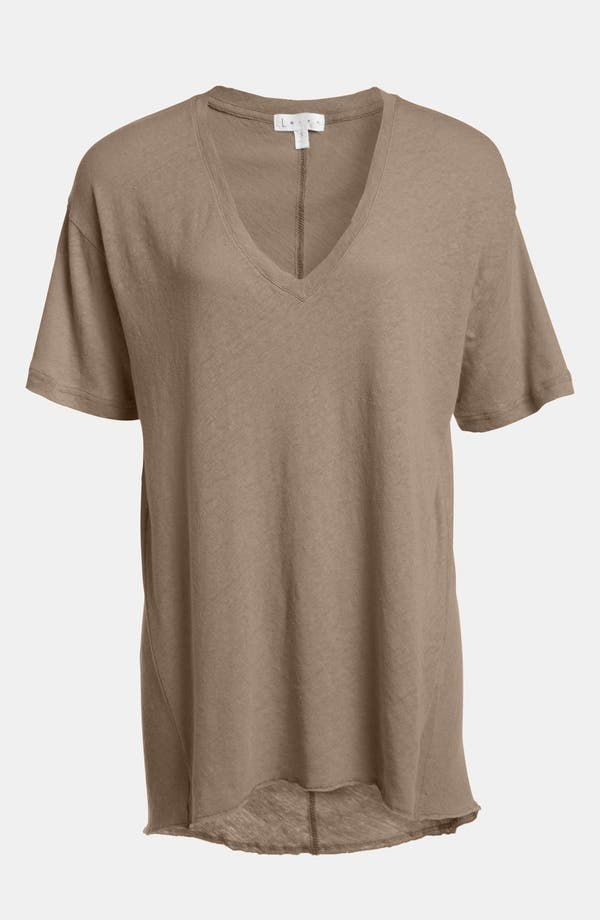 Alternate Image 1 Selected - Leith Oversize Flax & Cotton Tee