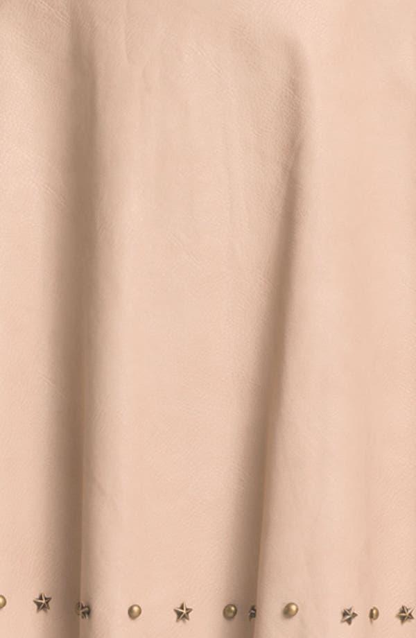 Alternate Image 3  - Blu Pepper Studded Faux Leather Skirt (Juniors)