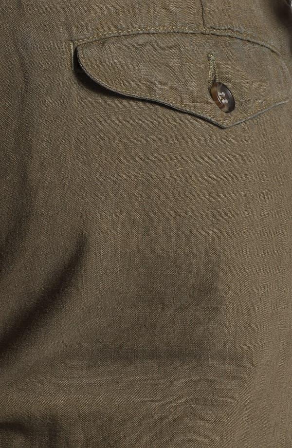 Alternate Image 3  - Vince Flat Front Linen Shorts