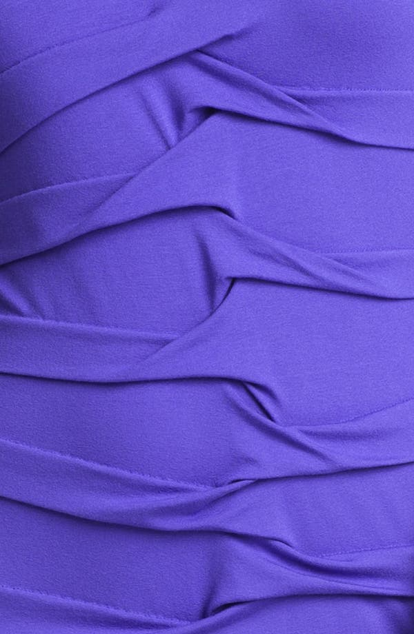 Alternate Image 3  - Nicole Miller Long Sleeve Pleated Jersey Dress