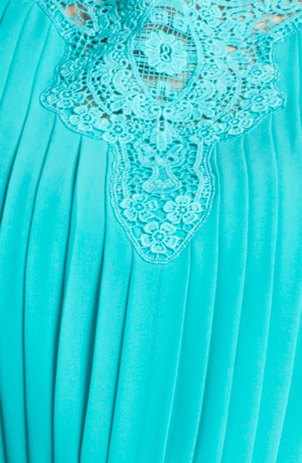 Pleated Dress,                             Alternate thumbnail 3, color,                             Bluebird