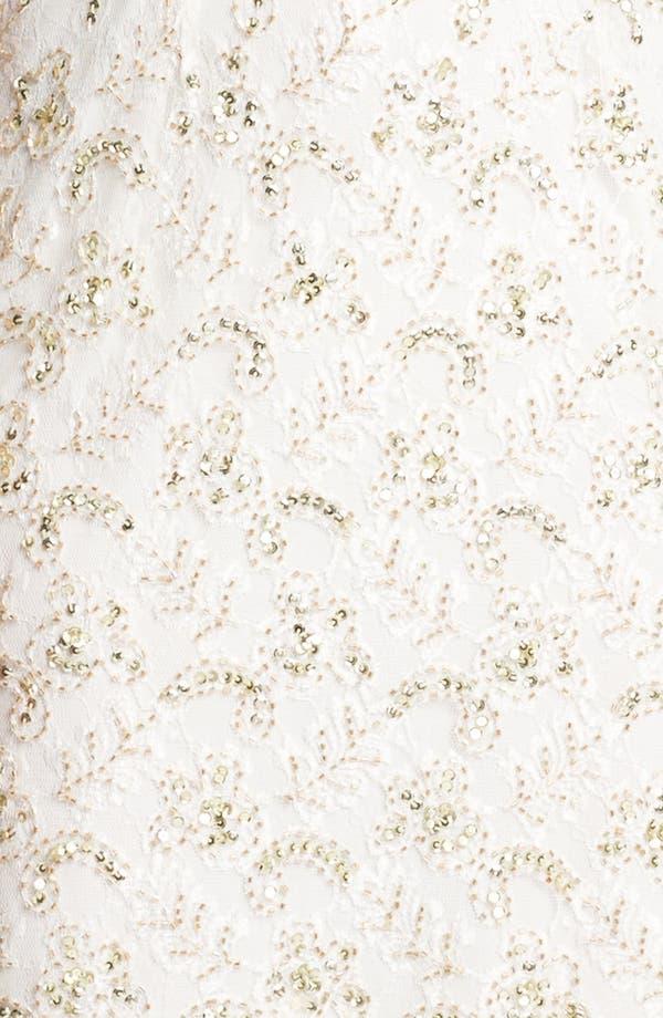 Alternate Image 3  - Pisarro Nights Draped Back Embellished Lace Sheath Dress