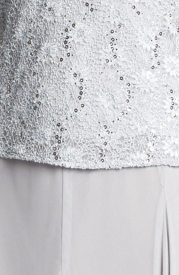 Alternate Image 4  - Alex Evenings Embellished Lace Twinset (Petite)