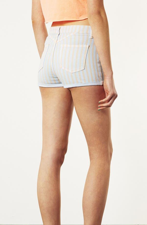 Alternate Image 2  - Topshop Moto 'Poppy' Overdyed Stripe Shorts