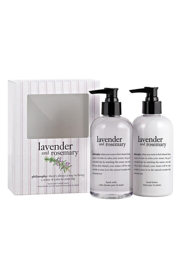 Main Image - philosophy 'lavender & rosemary' hand care set