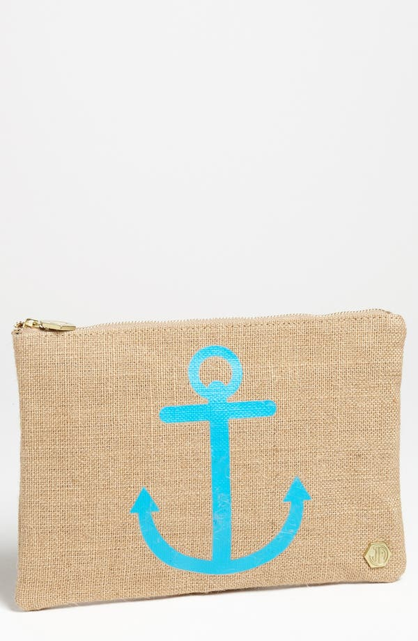 Alternate Image 1 Selected - Jonathan Adler 'Anchor' Canvas Pouch