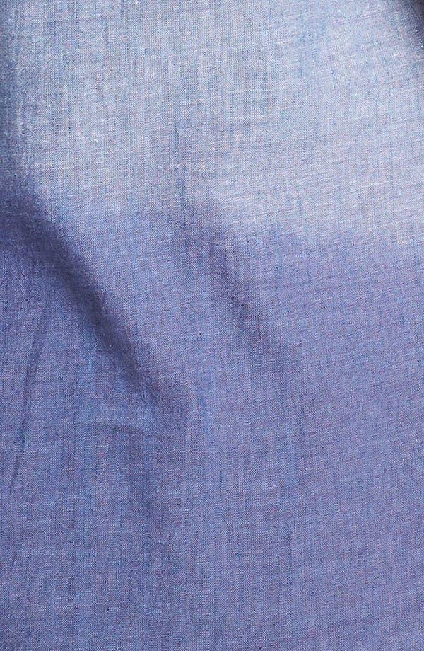 Alternate Image 3  - Evans Pintuck Sleeveless Denim Top (Plus Size)
