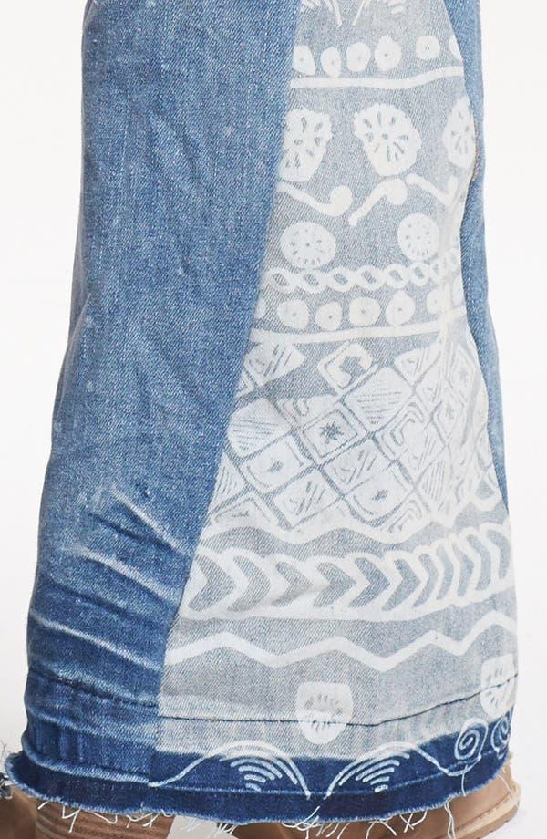 Alternate Image 4  - Free People 'Mermaid' Flare Leg Jeans (Palms Wash)