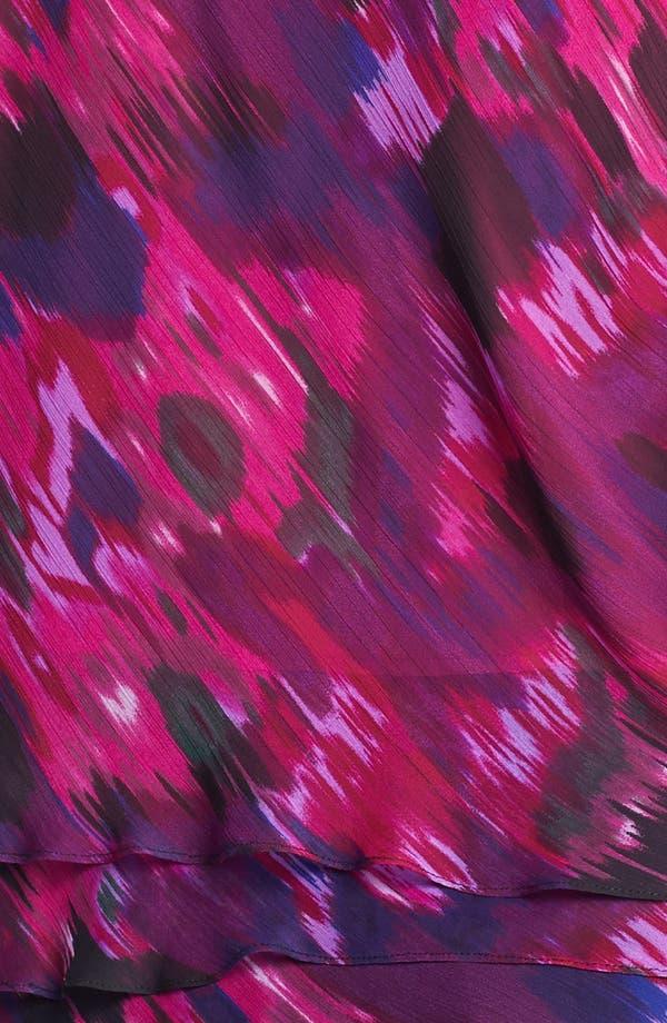 Alternate Image 3  - Alex Evenings Print Tiered Blouse (Plus Size)
