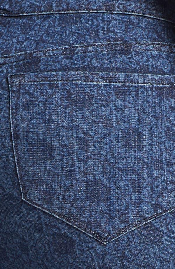 Alternate Image 3  - NYDJ 'Audrey' Rose Print Ankle Jeans (Plus Size)