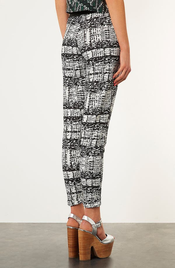 Alternate Image 3  - Topshop Tapered Jersey Trousers
