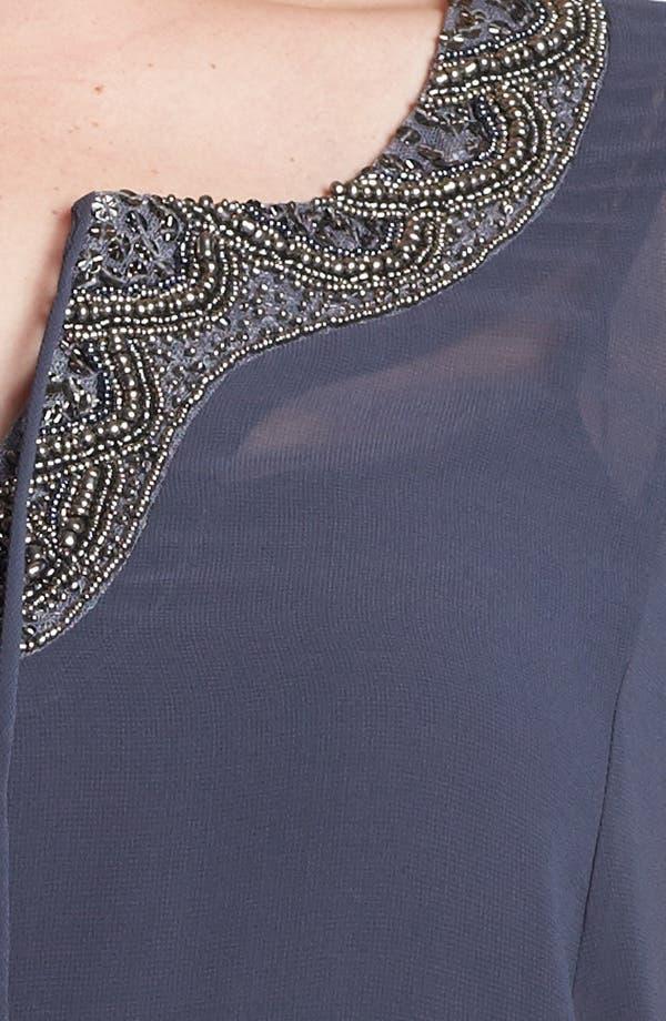Alternate Image 3  - Evans Embellished Chiffon Top (Plus Size)