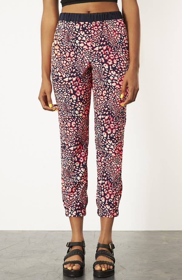 Main Image - Topshop Leopard Print Track Pants
