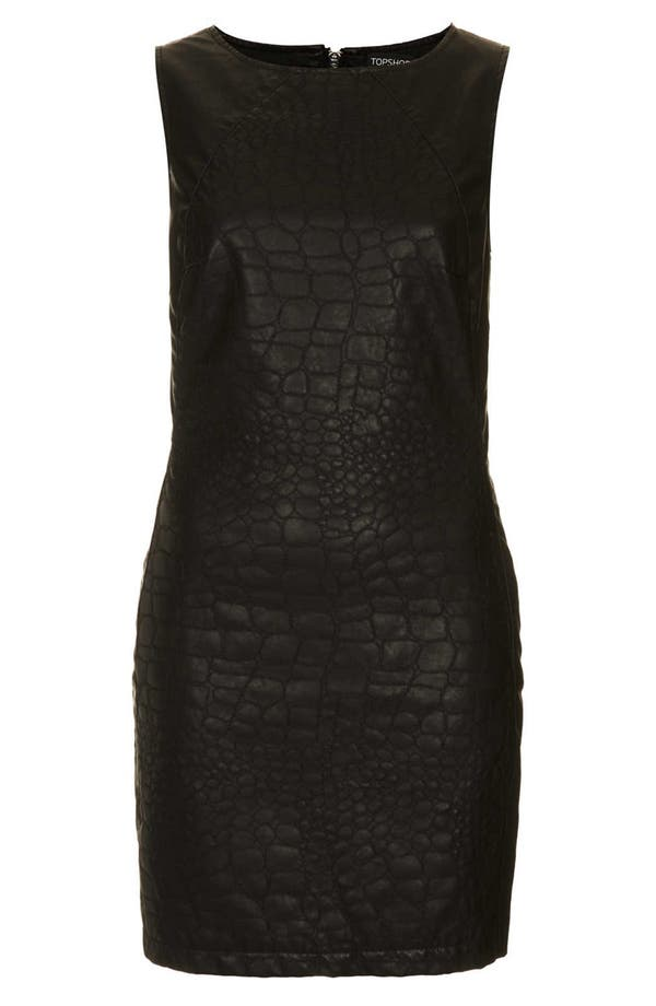 Alternate Image 3  - Topshop Quilted Faux Leather Shift Dress