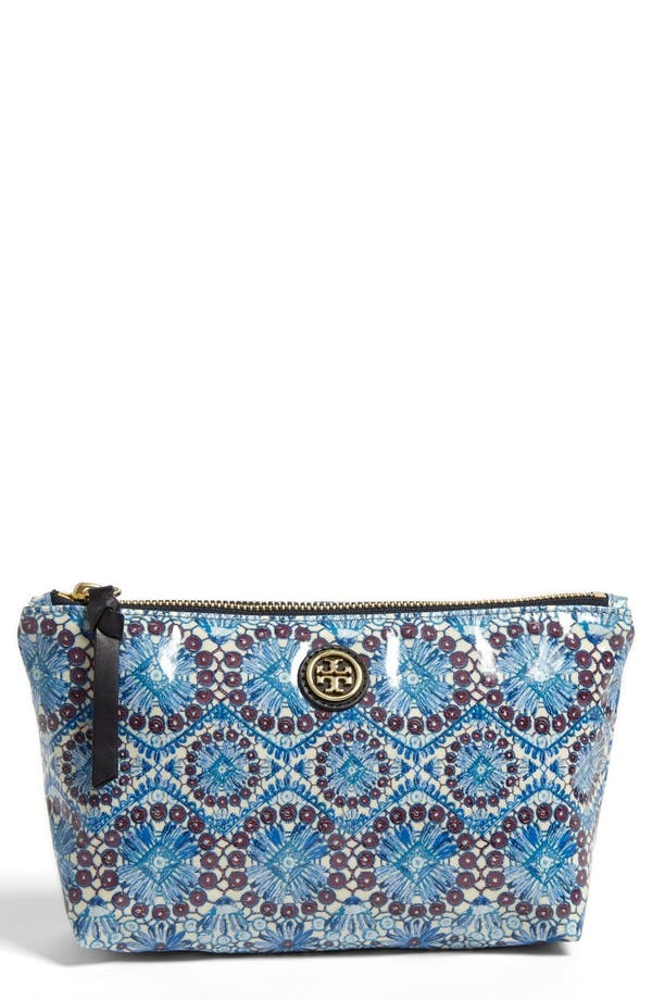 Main Image - Tory Burch 'Slouchy - Small' Cosmetics Case