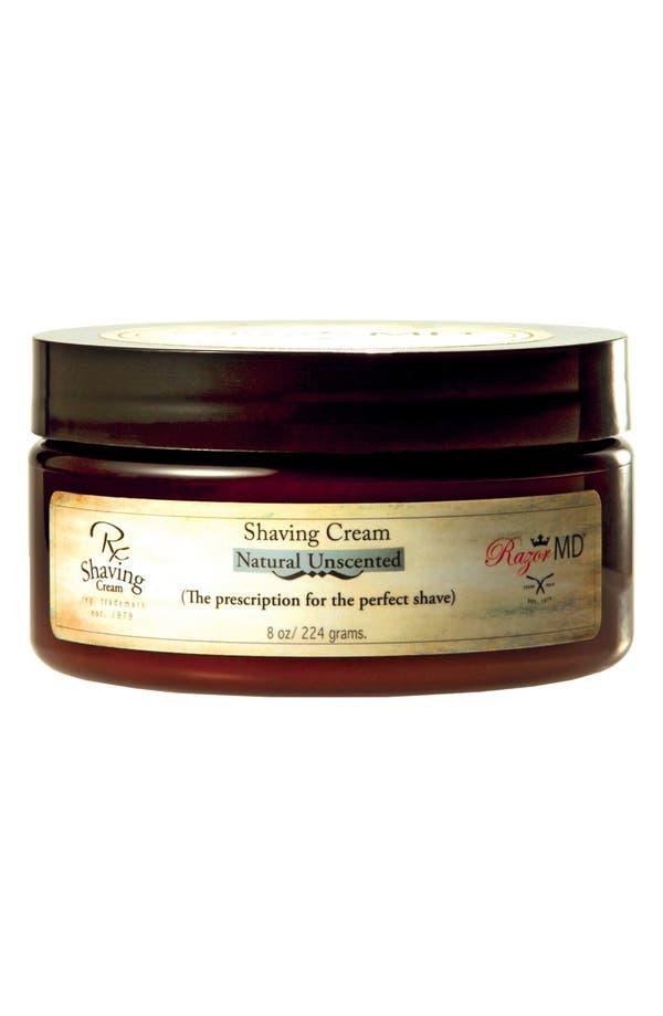 Main Image - Razor MD® 'Natural Unscented' Shaving Cream