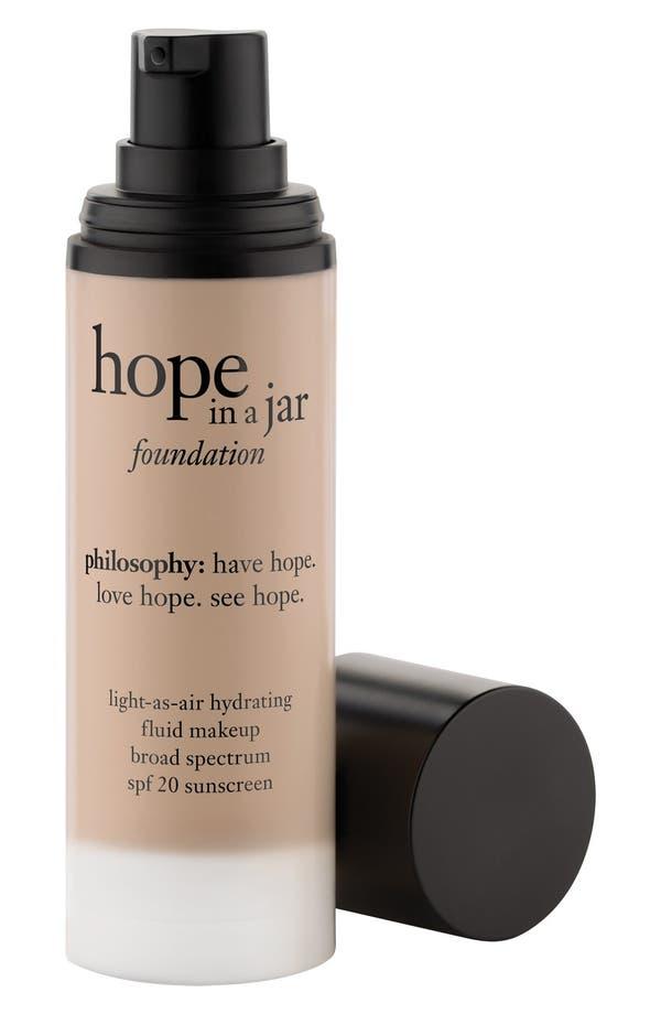 'hope in a jar' light-as-air hydrating fluid foundation SPF 20,                             Main thumbnail 1, color,                             Shade 5