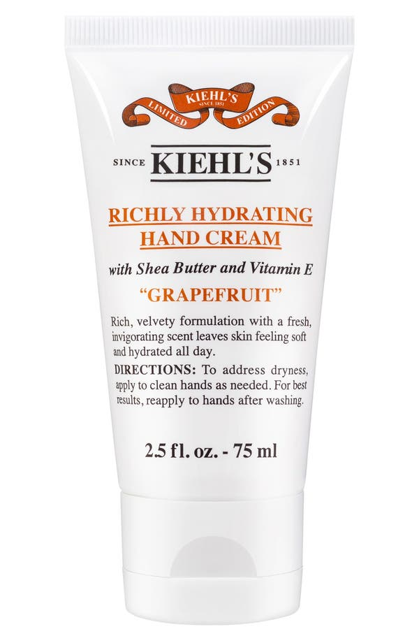 Main Image - Kiehl's Since 1851 Grapefruit Richly Hydrating Scented Hand Cream