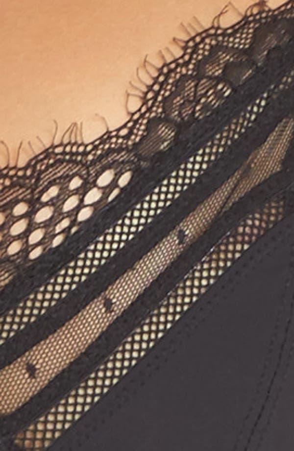 Thistle & Spire Amore Underwire Longline Bra,                             Alternate thumbnail 9, color,                             Black