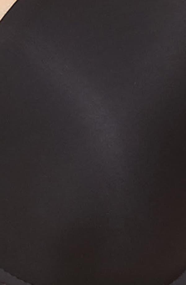 Lace Impression Underwire Contour Racerback Bra,                             Alternate thumbnail 8, color,                             Black